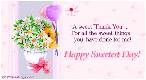 a sweet thank you free thank you ecards greeting cards