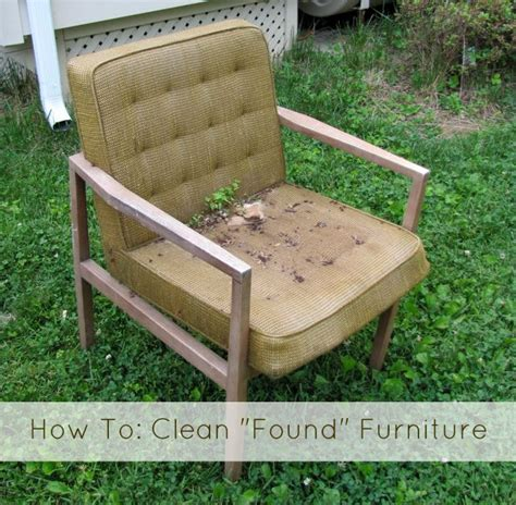 How To Clean Furniture by Trash Picking How To Sanitize Quot Found Quot Furniture The