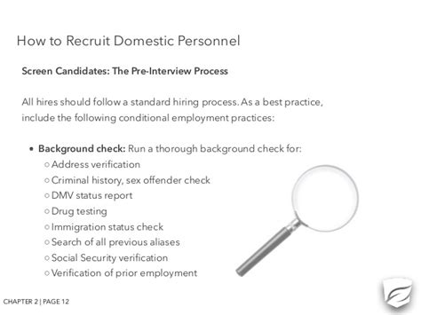 Merit Background Check Staff Management The Care And Keeping Of Your Principal S
