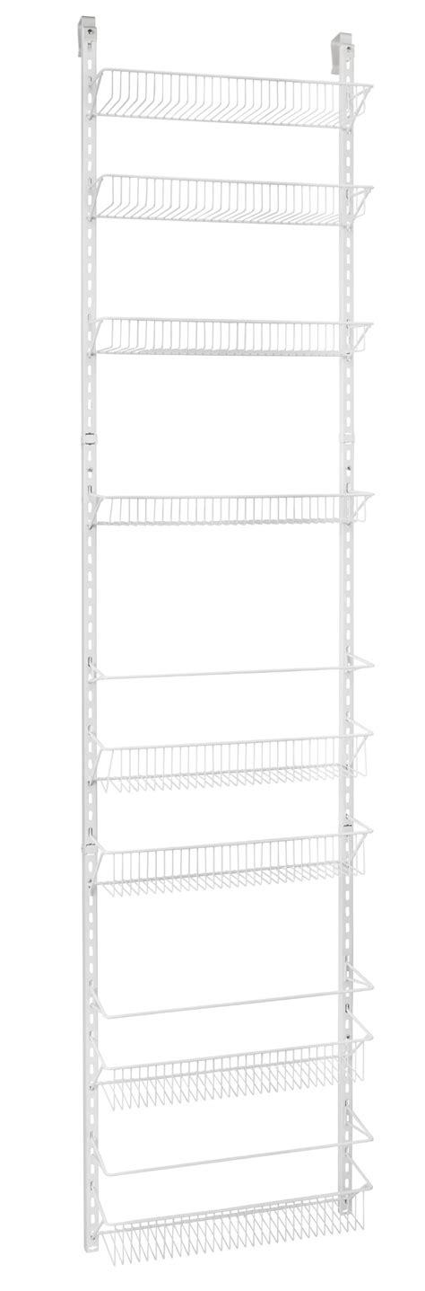 Adjustable Pantry Door Rack by Adjustable The Door Storage Rack 8 Shelves Kitchen