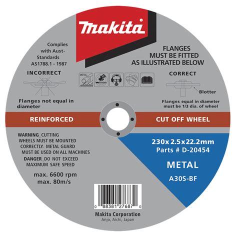 Wheel Makita 4 Inch Cutting Wheel Makita D 40706 makita 230 x 2 5 x 22mm cutting disc bunnings warehouse