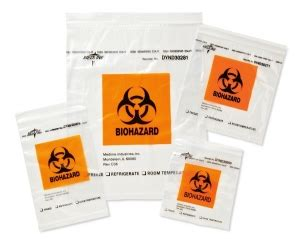 zip style biohazard specimen bags | medline industries, inc.