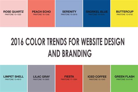 color trends 2016 website design website design cape town