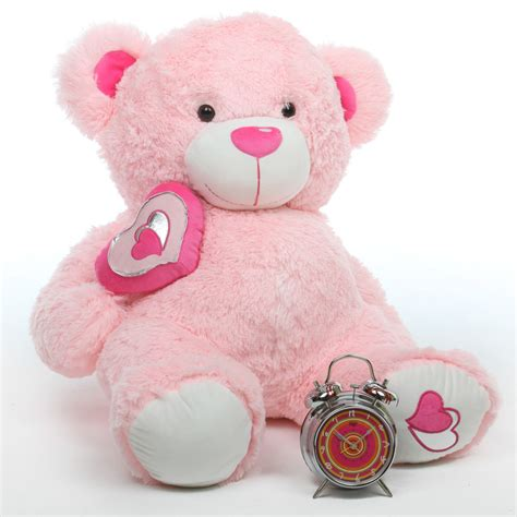 light pink teddy bear cutie pie big love 30 quot pink big stuffed teddy bear giant