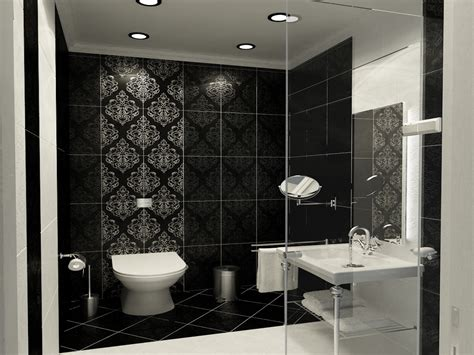 Black And White Bathroom Tile Design Ideas by Monochrome Bathroom Black And White Bathroom Tile Design