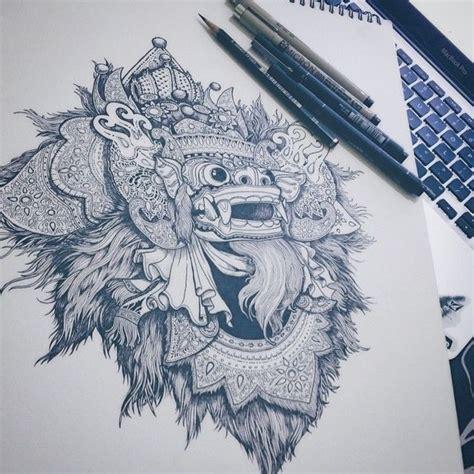 barong ket tattoo inked next to digital processing art design