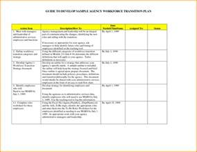 8 employee transition plan template nypd resume