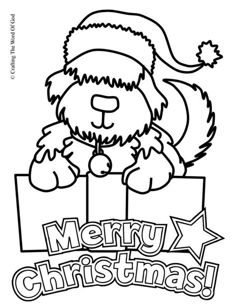 coloring pages dogs christmas christmas puppy coloring page 171 crafting the word of god