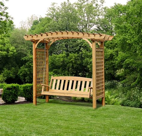 pergola swings brandywine arbor with swing porch swings gazebo depot