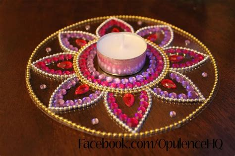 Handmade Rangoli - opulence our beautiful handmade rangoli tealight