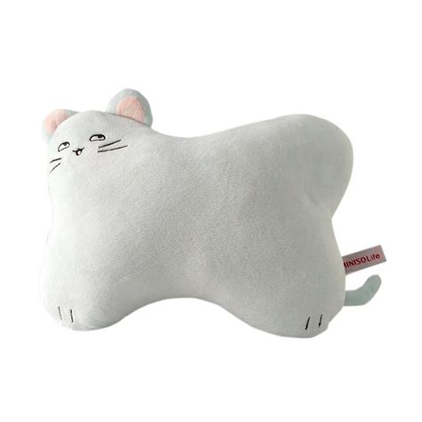 blibli miniso jual miniso cat bone shapped pillow blue online harga
