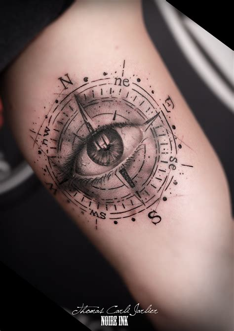 tattoo with compass compas tattoo