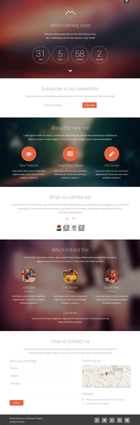 coming soon page template wordpress gallery templates