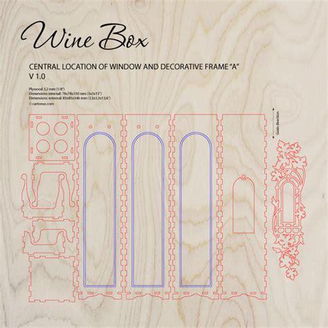 Wine Box Cartonus Laser Cut Wine Box Template