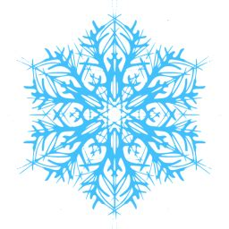 caribbean blue snowflake  icon  caribbean blue