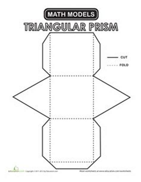 How To Make A Prism Out Of Paper - best photos of triangular prism template triangular