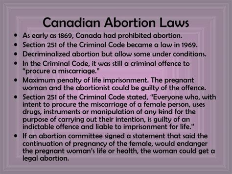 section 253 criminal code of canada abortionin canada