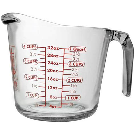 anchor hocking 32 oz glass measuring cups pack of 3 free shipping on orders over 45