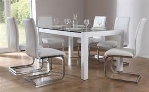 venice perth high gloss glass dining set white only