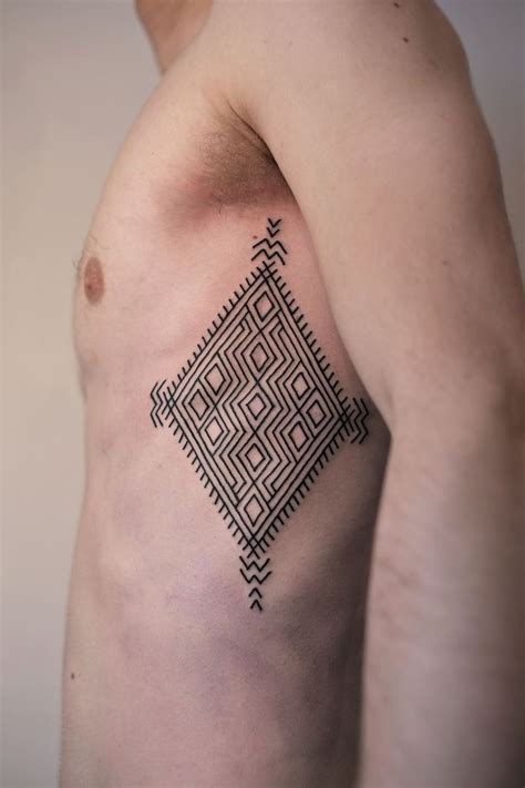 victor tattoo geometric chest from victor j webster http