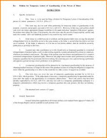 temporary guardianship letter template free 12 sle letter for guardianship temporary ledger paper