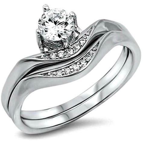 Wedding Ring Z 5 by Sterling Silver Cz 1 Carat Princess Cut Channel Set Band