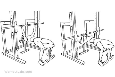 using smith machine for bench press smith machine bench chest press workoutlabs