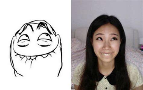 Meme Faces Girl - girl making meme faces fun