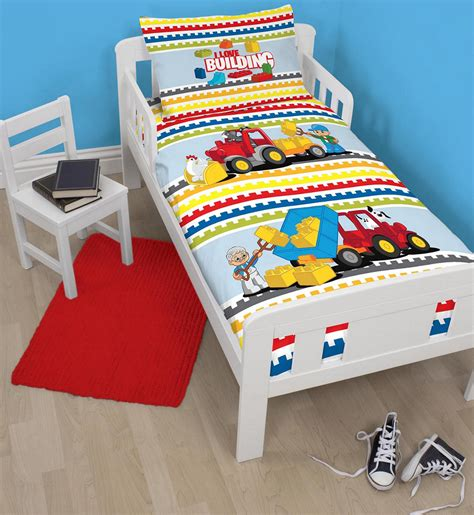 bed blocks lego duplo blocks junior toddler cot bed size duvet quilt