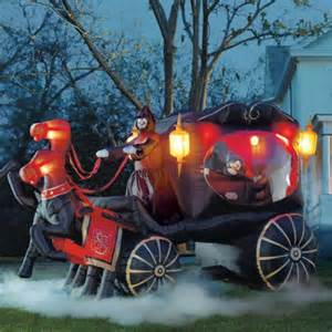 Home Made Halloween Decoration grandin road inflatable hearse carriage