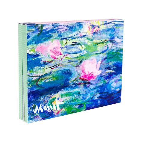 monet poster portfolios 382281413x claude monet evening water lilies note card portfolio national gallery of art shops shop