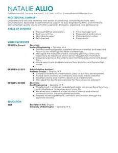 Secretary Resume   berathen.Com