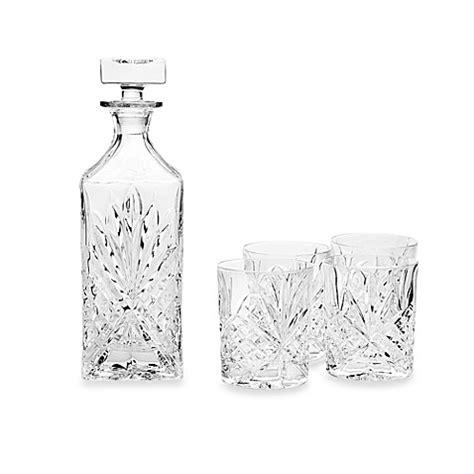 godinger barware godinger dublin crystal whiskey 5 piece barware set bed bath beyond