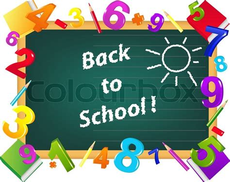 back to school template design from school board color