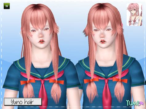 Sims 4 Anime Hair Cc | zauma s yume yuno hair