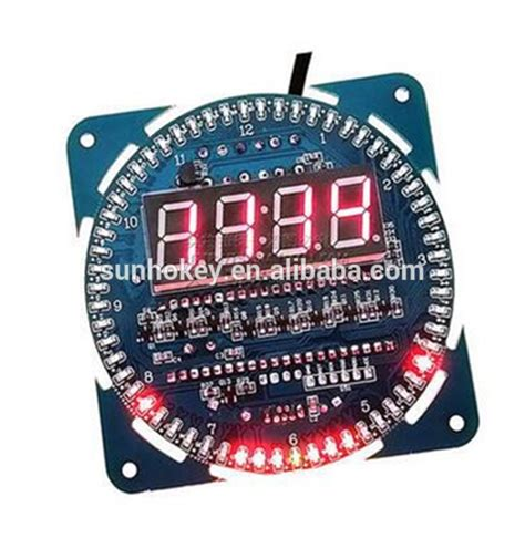 Paling Murah Ds1302 Module Blue Board Ds 1302 Rtc Real Time Clock ds1302 clock creative diy rotating led display temperature display alarm