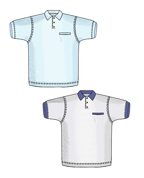 pattern making of polo shirt polo shirt sewing pattern 6120 made to measure sewing