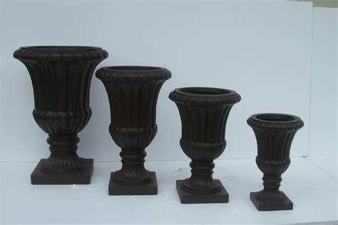 inorganic fiberglass urn planters for entry