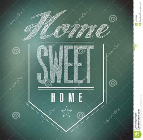 chalkboard vintage home sweet home sign poster royalty