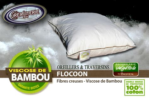 oreillers biotex oreiller biotex flocoon bambou viscose de bambou