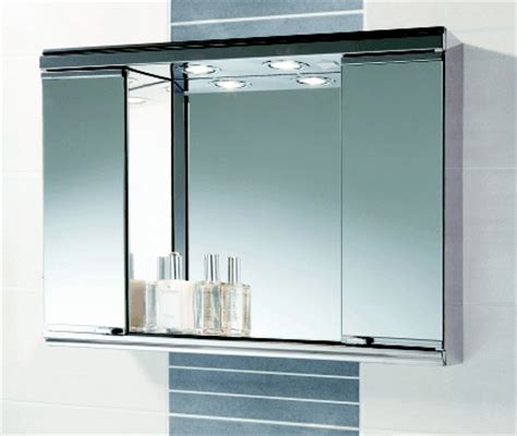Illuminated Mirror Bathroom Cabinet Mini Burga Bathroom Cabinet By Hib