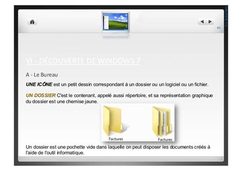 t駘馗harger icone bureau windows 7 initiation 224 l informatique avec windows 7