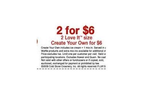 cold stone coupons 2 for 5