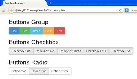 bootstrap tutorial radio button bootstrap button groups