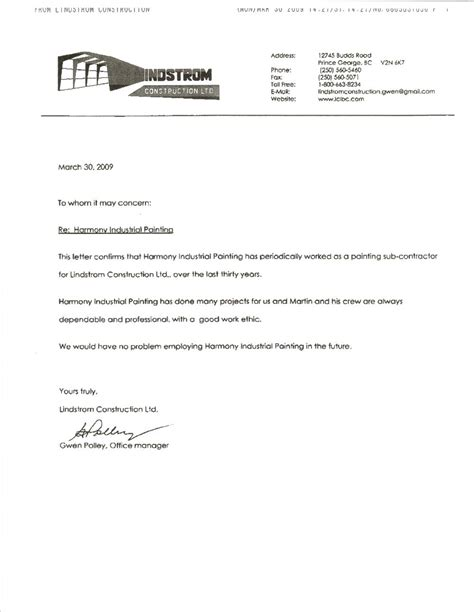letter of reference template trend markone co