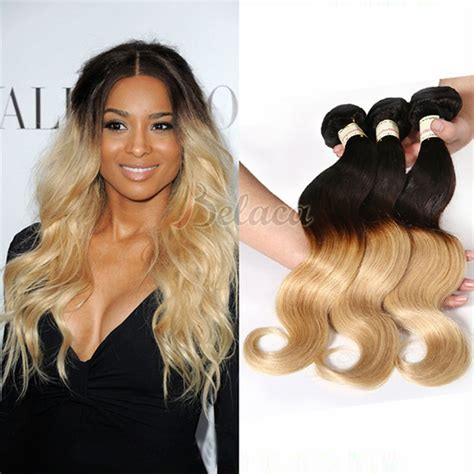 dying real hair extensions 3 bundles color 1b 27 ombre human hair weave