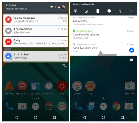 notification android android n could bring redesigned notification and settings panels