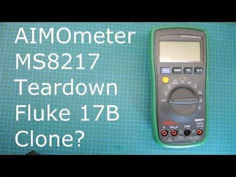 Multimeter Fluke 17b aimometer ms8217 multimeter teardown fluke 17b clone