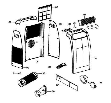 delonghi air conditioner parts delonghi portable air conditioner parts model pacc120