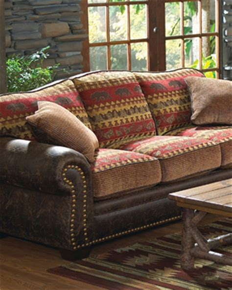 lodge couch cabin decor rustic lodge decor a log cabin store